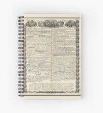 Erster Entwurf der Unabhängigkeitserklärung von Kurz & Allison Spiralblock