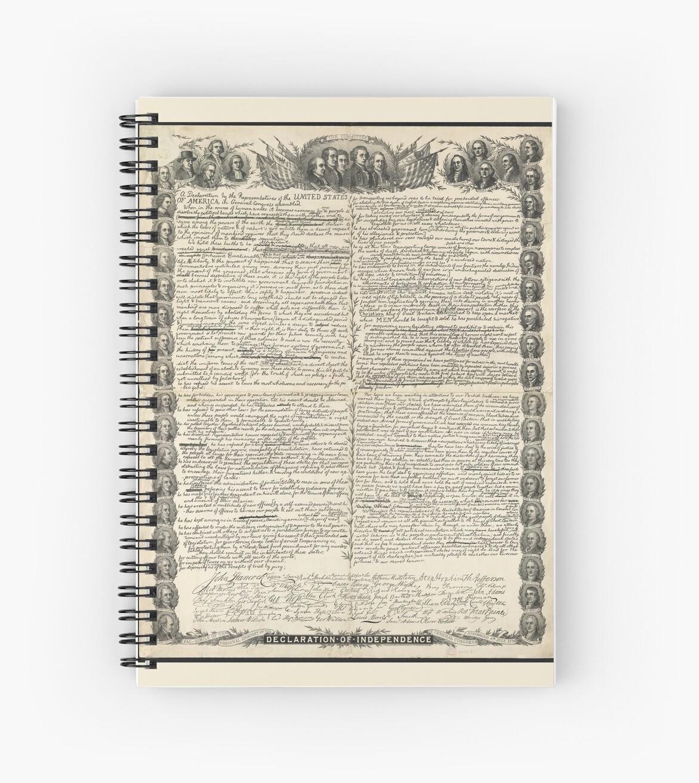 Erster Entwurf der Unabhängigkeitserklärung von Kurz & Allison von allhistory