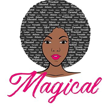 Magical Afro Girl with Word Art Hair by mrhighsky