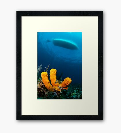 three sponge fingers and a boat Framed Print