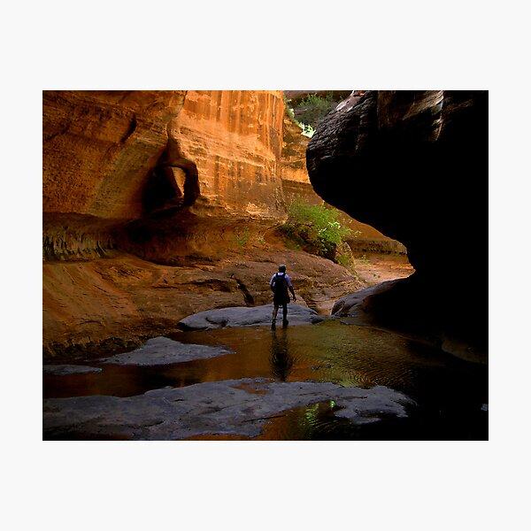 emergent hiker Photographic Print