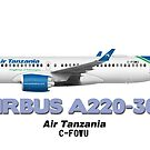 Airbus A220-300 - Air Tanzania by TheArtofFlying