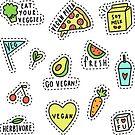 Vegan stickers by kondratya