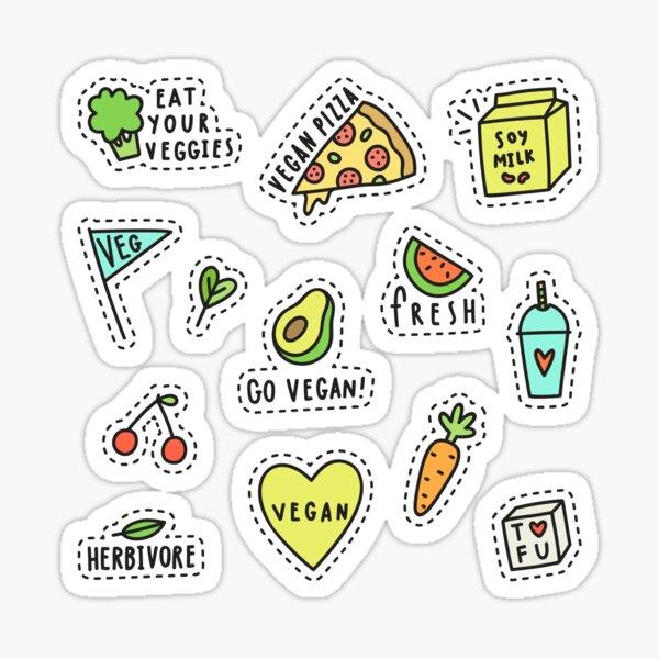 Vegan set Sticker