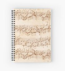 Antique Manuscript Musical Score Spiral Notebook