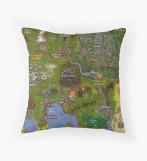 Runescape World Map Floor Pillow