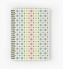 Dot pattern retro color Spiral Notebook