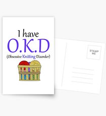 Comedy I Have O.K.D - Obsessive Knitting Disorder Postcards
