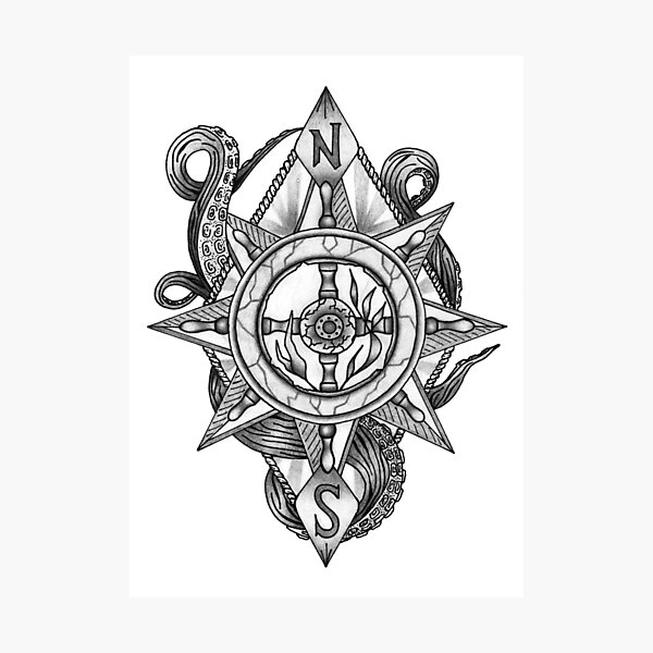 Kraken Compass Photographic Print