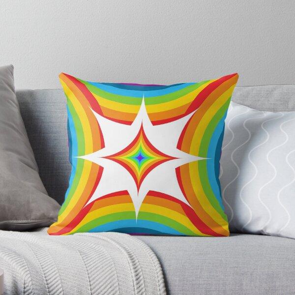 Rainbow flash design Throw Pillow