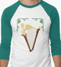 Celtic Harp Men's Baseball ¾ T-Shirt