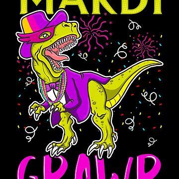 Mardi Grawr Dinosaur by MikeMcGreg
