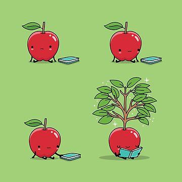Reading apple by AndresColmenare