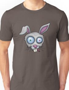 Crazy White Rabbit Unisex T-Shirt
