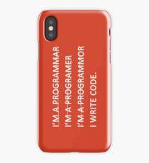 Teevolution :: I write code iPhone Case/Skin