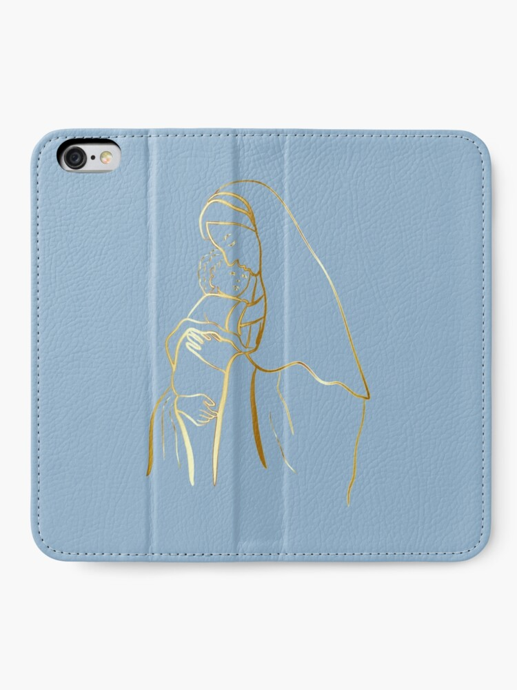 Alternate view of Mater Dei by TRADCATFEM iPhone Wallet