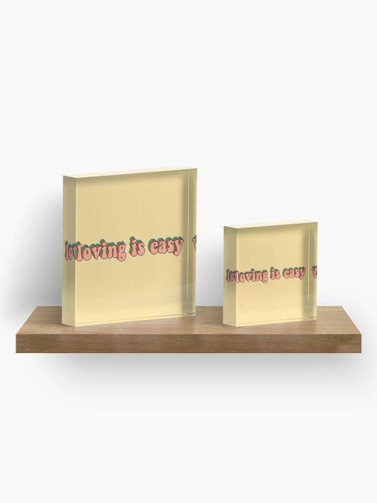 Alternate view of loving is easy rex orange county Acrylic Block