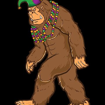 Mardi Gras Bigfoot by MikeMcGreg