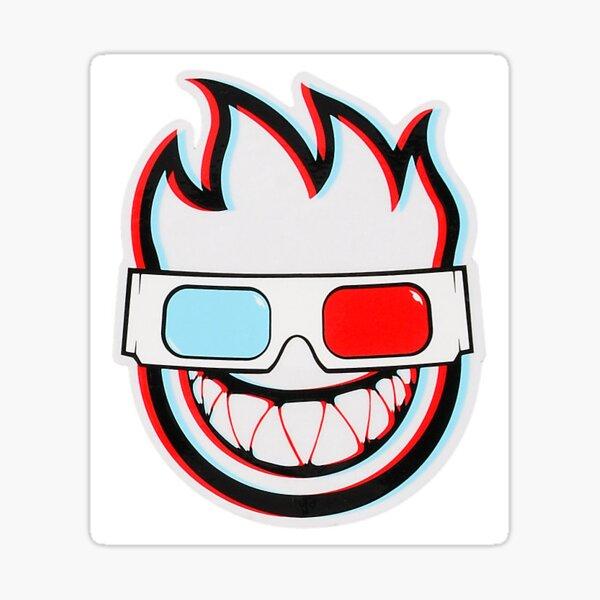 "WORLD INDUSTRIES 4/"" Red Smiley STICKER decal skate skateboard streetwear street"