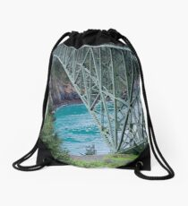 Deception Pass Bridge  Drawstring Bag