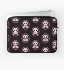 Pink Sugar Skull Vector Laptop Sleeve