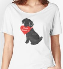 Valentine Labradoodle - 4Ever Doodle Heart Women's Relaxed Fit T-Shirt