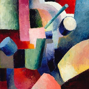 Colored Composition of Forms, August Macke by fourretout