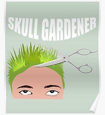 Hairdresser Skull Gardener | Hairstylist Coiffeur Poster