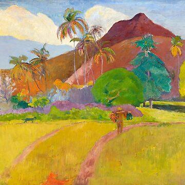 Tahitian Landscape, Paul Gauguin by fourretout