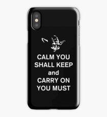 yoda keep calm iPhone Case