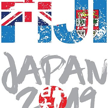 Rugby Cup 2019 World Team Fiji Supporter Contact Sports Fans by Nslock5000