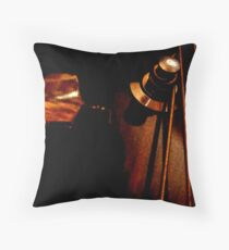 Tuned and ready. Throw Pillow