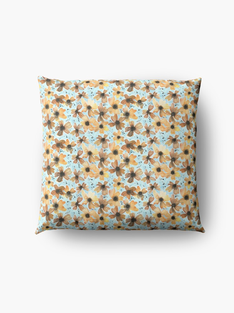 Alternate view of Hand Painted Floral Pattern - There's No Place Like Home Floor Pillow