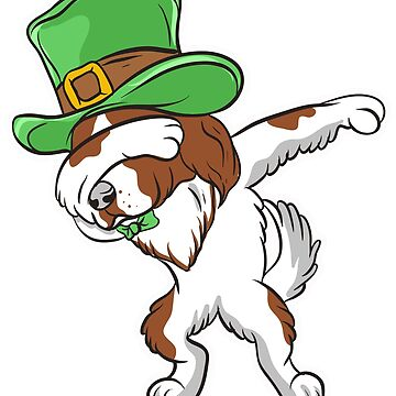 Dabbing Irish Setter Dog St. Patrick's by frittata
