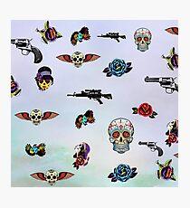 guns and roses  Photographic Print