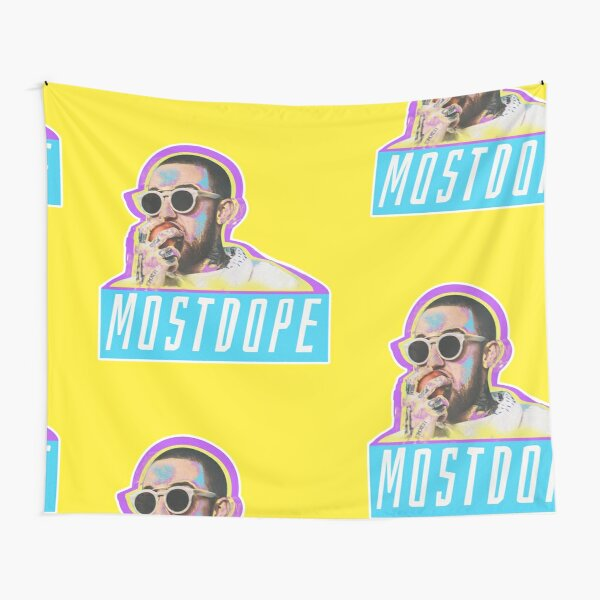 Mac Miller Most Dope 80s Retro  Tapestry