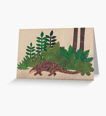 Pangolin im Wald Grußkarte