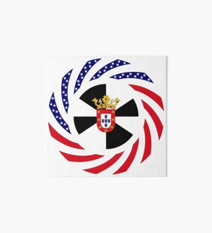 Ceutan American Multinational Patriot Flag Series Art Board Print