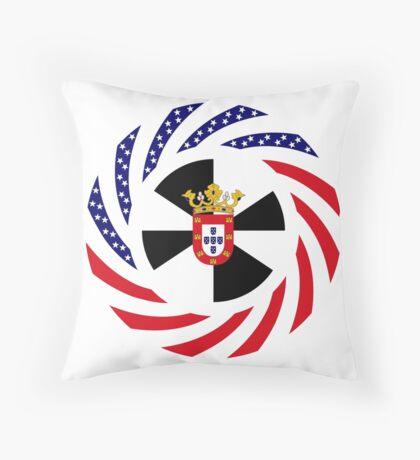 Ceutan American Multinational Patriot Flag Series Throw Pillow