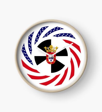 Ceutan American Multinational Patriot Flag Series Clock