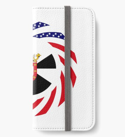 Ceutan American Multinational Patriot Flag Series iPhone Wallet
