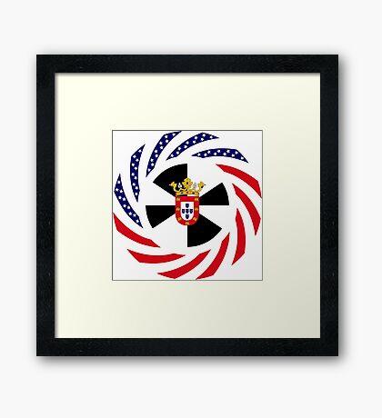 Ceutan American Multinational Patriot Flag Series Framed Print