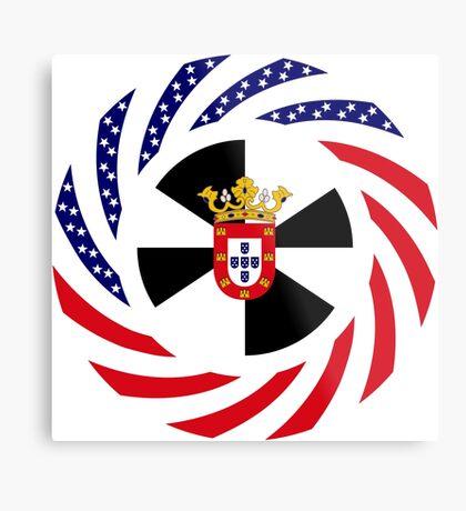 Ceutan American Multinational Patriot Flag Series Metal Print