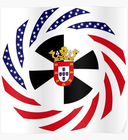 Ceutan American Multinational Patriot Flag Series Poster