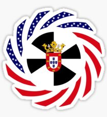 Ceutan American Multinational Patriot Flag Series Sticker