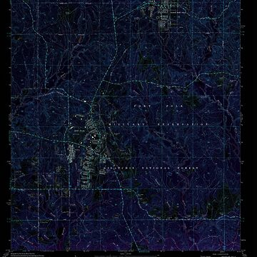 USGS TOPO Map Louisiana LA Fort Polk 332007 1974 24000 Inverted by wetdryvac