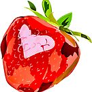 Strawberry Heart Digital Painting by Deana Greenfield
