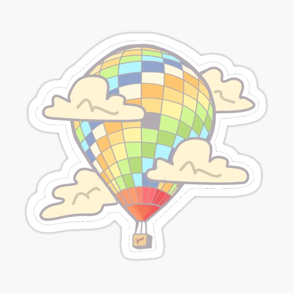 Young Forever hot air balloon Sticker