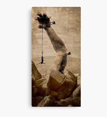 The upper hand...higher heights Canvas Print