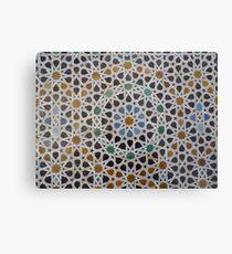 Traditionelles marokkanisches Mosaik Metalldruck